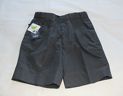 Midford 155B Boys Dark Grey Extendable Waist School Uniform Shorts Size 8 New