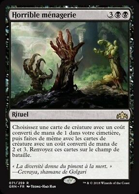 horrible menagerie  R  X1  les guildes de ravnica