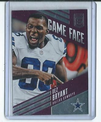 2016 Panini Donruss Elite NFL Dez Bryant Dallas Cowboys Game Face #30/49