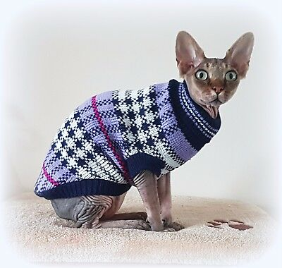 LILAC winter sweater Sphynx cat clothes sweater jumper Katzenbekleidung pet top