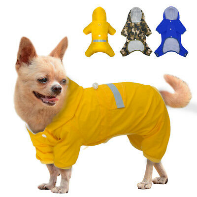 Waterproof Dog Rainwear Jacket Pet Mesh Hooded Puppy Leg Rain Coat Clothes