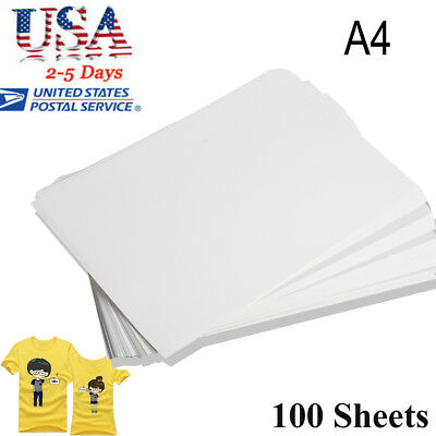 USA 100pc A4 Sublimation ink Heat Transfer Paper for Inkjet Printer Mug T-shirt