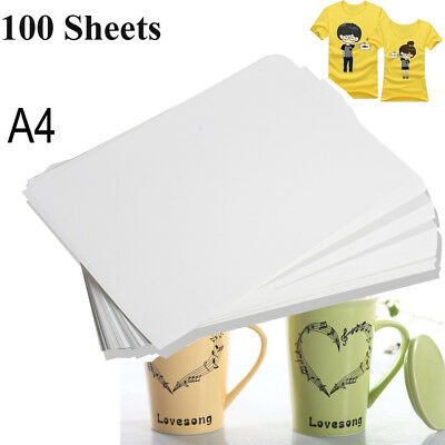 100Sheets A4 Dye Sublimation Heat Transfer Paper for Mug Plate Polyester T-Shirt