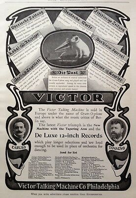 1903 Ad(G16)~Victor Talking Machine Co. Phil., Victor De Luxe Records