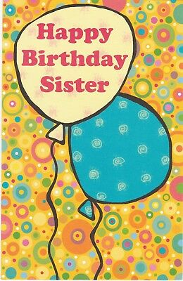 Birthday Card with Envelope for Sister