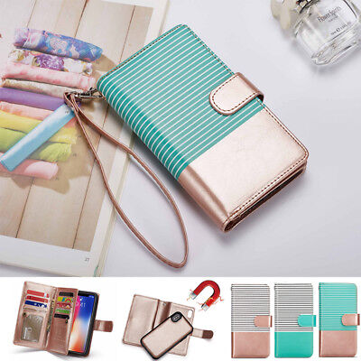 iPhone XS Max XR Case For Apple Detachable Magnetic Leather Wallet Card Cover