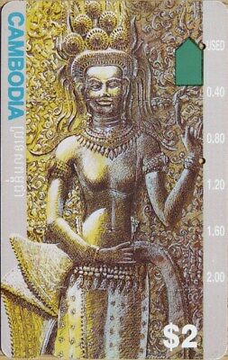 Telstra Australia – Cambodia $2 Apsara Dancer - Prefix 1564 Phonecard - Used