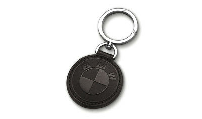 BMW Genuine Main Collection Stylish Fine Leather Keyring in Black 80272454673