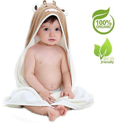2 Soft White Elli and Raff Baby Hooded Bath Time Towel 100/% cotton Gift 74x74cm