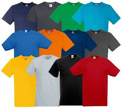 Fruit Of The Loom Plain Mens Short Sleeves Valueweight V Neck T-Shirt TShirt