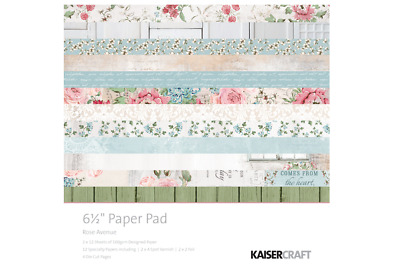 """Kaisercraft - 6.5"""" Paper Pad - Rose Avenue - 40 Sheets/pages - PP1030"""