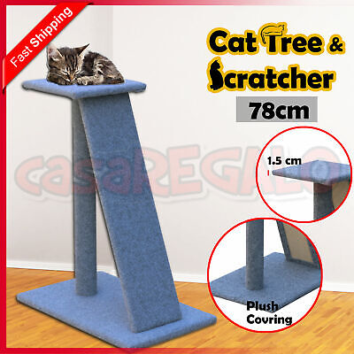 Cat Tree Ramp Furniture Scratching Post Scratcher Poles Toy Ladder 82CM