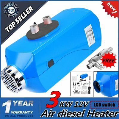 3KW 12V Air Diesel Fuel Heater Set For Trucks Boats Bus Outlet + LCD Switch MN