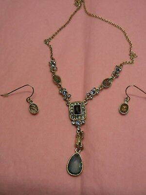 AVON Necklace And Earrings Tourmaline Coloured Giftset Beautiful Gift