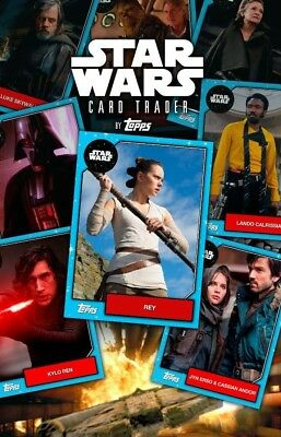 Topps Star Wars Card Trader YOU Pick 9 DIGITAL CARDS - ANY YOUR CHOICE