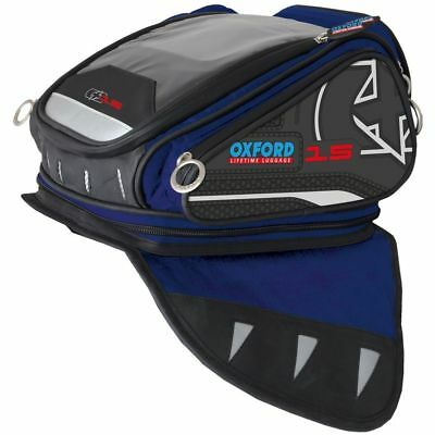 OXFORD X15 Tankbag Blue Lifetime Motorcycle Luggage 15L - OL212 BLOW OUT SALE