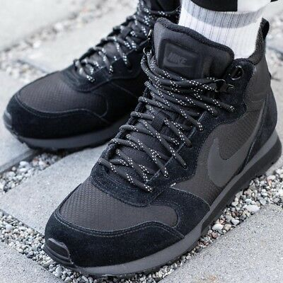 new arrival 18b7b a86d3 NIKE MD RUNNER 2 MID chaussures hommes montantes noir sneaker baskets  844864-004