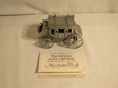 The Vehicles of the Old West Pewter Sculpture Stagecoach The Franklin Mint