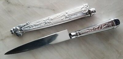 Elmo Inox Sterling Silver & Stainless Steel Cowboy Boot Knife