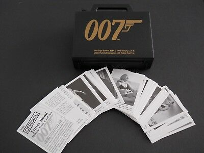 The Official JAMES BOND Bubble Gum Card Set Reproduced 64 Cards in ATTACHE CASE.