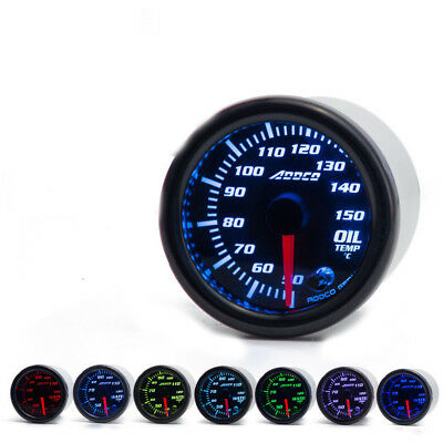 "52mm 2"" Oil Temp Temperature Gauge Red Blue Green Purple Yellow Light"