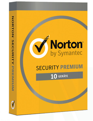 Norton Security 3.0 PREMIUM 10 PC Geräte 3 Jahre 2019 Mac Android inkl. 25 GB On