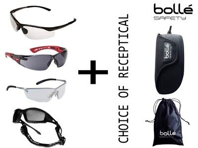 BOLLE Premium Safety & Cycling Glasses with or with Looped Belt Case or Bag