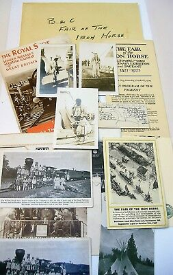 1927 The Fair of the Iron Horse Baltimore & Ohio Railroad Exhibition Lot