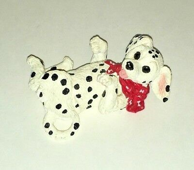 Kathy Wise for Enesco Dalmatian Puppy Dog Laying on Back 1994