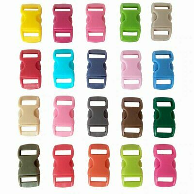 Buckles Parachute Side Release 20 Pack- (L) 30mm (W) 10mm Mixed Colours