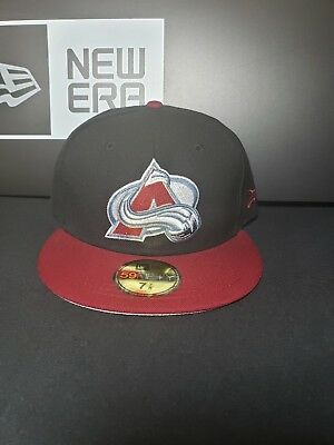 timeless design 696b7 65fa0 Colorado Avalanche New Era 59Fifty Fitted NHL Hat Cap Size 7-7 8