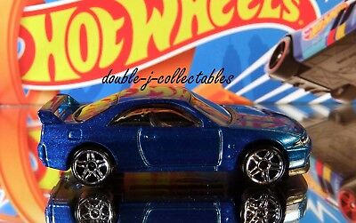 2018 Hot Wheels THEN AND NOW NISSAN SKYLINE GT-R R33 Blue Loose #46