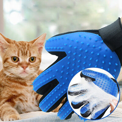 Right Hand Pet Grooming Glove Dog Cat Washing Hair Fur Removal Soft Glove Brush