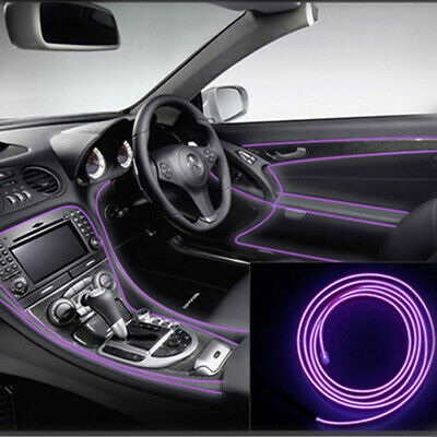 5M Flexible LED Neon Light Glow EL Strip Tube Wire Rope +Battery Box/Car Driver