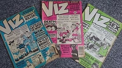 Viz Comic - Issue 34 Issue 35 & Issue 36 (1989) - Not For Sale To Children!
