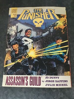 THE PUNISHER Assassin's Guild - Jo Duffy Genuine 1988 1st Edition