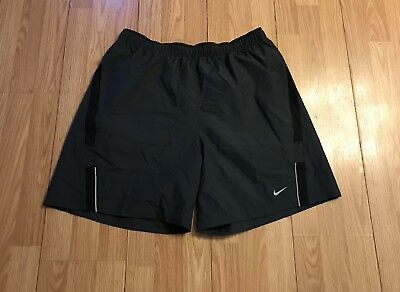 b93b18a8e61e NIKE Dri-Fit Mens Dark Gray Running Athletic XC Track Lined Shorts XL  Pockets