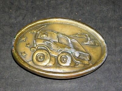 Vintage 1976 Indiana Metal Craft CA20 Drag Racing Dune Buggy Hot Rod Belt Buckle
