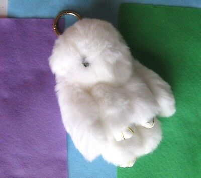 Rabbit plush for bags or wallets Toy Bunny white Kids Girl Women Gift