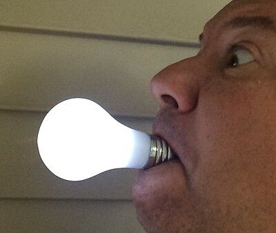 MAGIC LIGHT UP BULB In Mouth Joke Hand Ring LED Family Costume Uncle TV Show