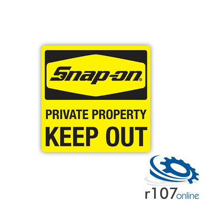 Genuine Snap On Tool Box Decal, Keep Out, 5""