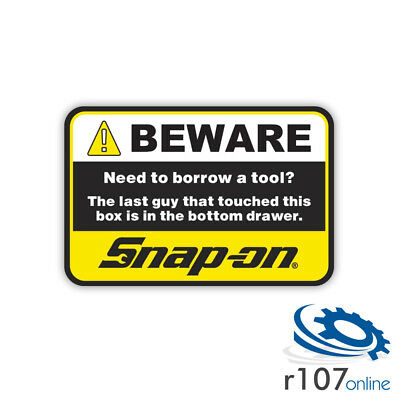Genuine Snap On Tool Box Decal, In The Drawer, 6.75""