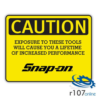 Genuine Snap On Tool Box Decal, Exposure, 5""