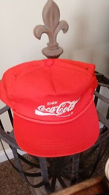 Coca-Cola Company Store Snap Back Adult Hat Vintage Coke Red Cap Hat