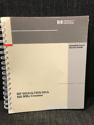 Hewlett- Packard HP 53131A / 132A / 181A 225 Mhz Counter Service Guide
