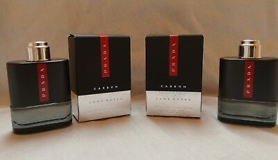 PRADA LUNA ROSSA CARBON EDT2 X  9ML  TOTAL 18ML  nuevo 100% ORIGINAL