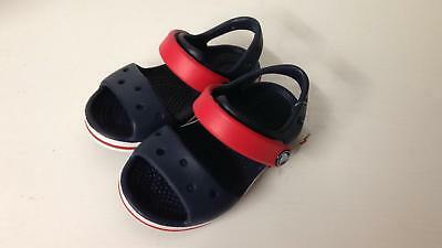 Crocband Sandal Kids navy/red relaxed fit 12856-485 Uk Kids Size c5