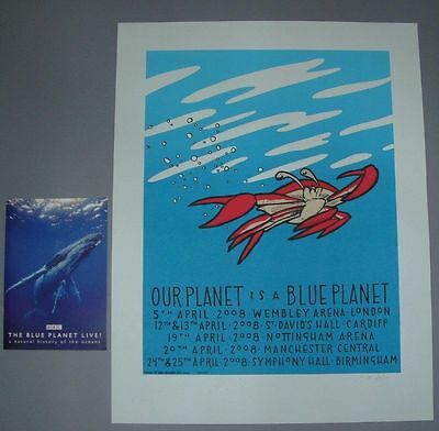 Jay Ryan Blue Planet Crab England Tour Poster Print Program Signed Numbered BBC