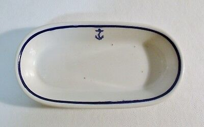 """Tepco US NAVY MESS WARDROOM OFFICER 7-5/8"""" Oval Celery/Relish/Pickle/Butter Dish"""