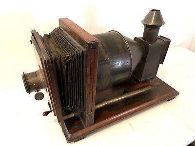 19th Century Large Antique Magic Lantern - Working Condition with Lens Intact